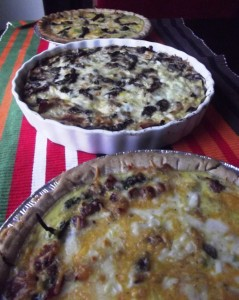 holiday leftovers - quiches